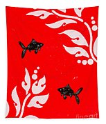 Black Fish Right Tapestry