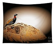 Black Francolin Tapestry