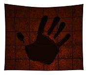 Black Hand Orange Tapestry