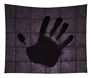 Black Hand Pink Tapestry