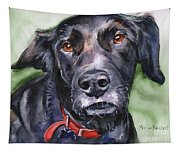 Black Lab In Watercolor Tapestry