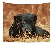 Black Labrador Tapestry