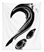 Black Magic 300 - Black And White Art Tapestry