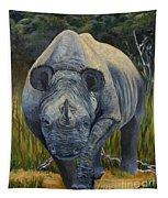 Black Rhino Tapestry