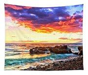 Black Sand Sunset Tapestry