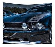 Black Truefiber Mustang Tapestry