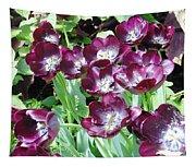 Black Tulips Tapestry