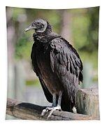 Black Vulture On The Boardwalk Tapestry