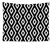 Black And White Pattern Tapestry