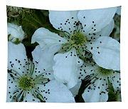 Blackberry Blossoms Tapestry