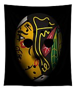 Blackhawks Goalie Mask Tapestry