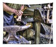 Blacksmith Working Iron V1 Tapestry