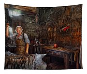 Blacksmith - Working The Forge  Tapestry