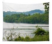 Blanket Of Fog On Clinch River  Tapestry