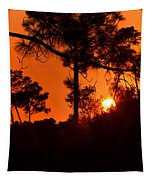 Blazing Sunset Tapestry