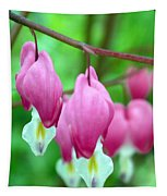 Bleeding Hearts Flowers Tapestry