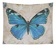 Bleu Papillon-b Tapestry