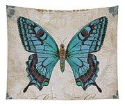 Bleu Papillon-c Tapestry
