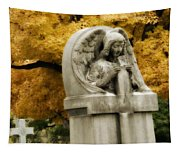 Blissful Angel In Autumn Tapestry