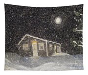 Blizzard At The Cabin Tapestry
