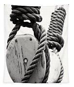 Block And Tackle Of Old Sailing Ship Tapestry