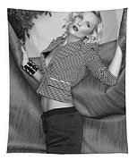 Blonde Movement Bw Palm Springs Tapestry