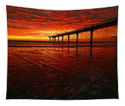 Blood Red Dawn Tapestry