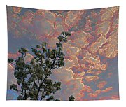 Blooming Tree And Sky Tapestry