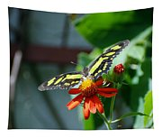 Blooms And Butterfly2 Tapestry