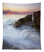 Blowing Rocks Sunrise Tapestry