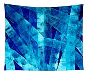 Blue Abstract Art - Paths - By Sharon Cummings Tapestry
