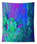 Blue Abstract Trunk Tapestry