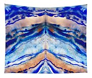 Blue Agate Abstract II Tapestry