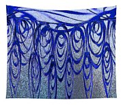 Blue And Black Swirl Abstract Tapestry