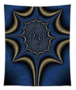 Blue And Gold Abstract Tapestry