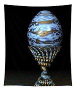 Blue And Golden Egg Tapestry