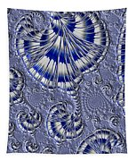 Blue And Silver 1 Tapestry