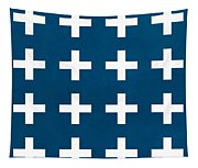 Blue And White Plus Sign Tapestry