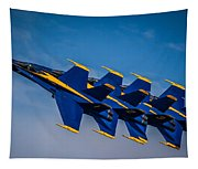 Blue Angels Single File Tapestry