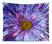 Blue Aster Miniature Painting Tapestry