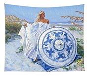 Blue Berry Beach  Tapestry
