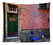 Blue Bicycle Monterosso Italy Dsc02592  Tapestry