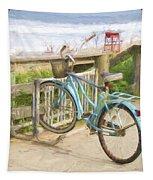 Blue Bike Tapestry