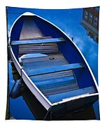Blue Boat Tapestry