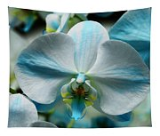 Blue Bow Orchid Tapestry