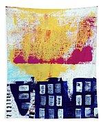 Blue Buildings Tapestry