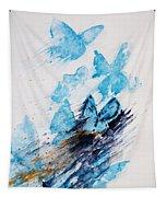 Blue Butterflies Tapestry