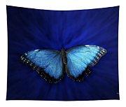 Blue Butterfly Ascending 02 Tapestry