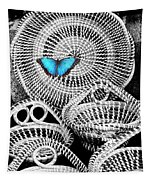 Blue Butterfly Charleston Tapestry