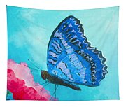 Blue Butterfly Tapestry